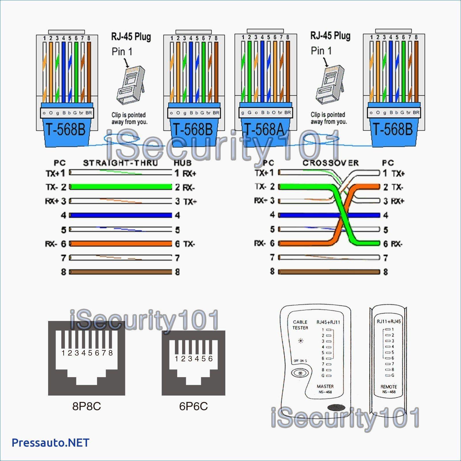 cat5 wall socket wiring diagram