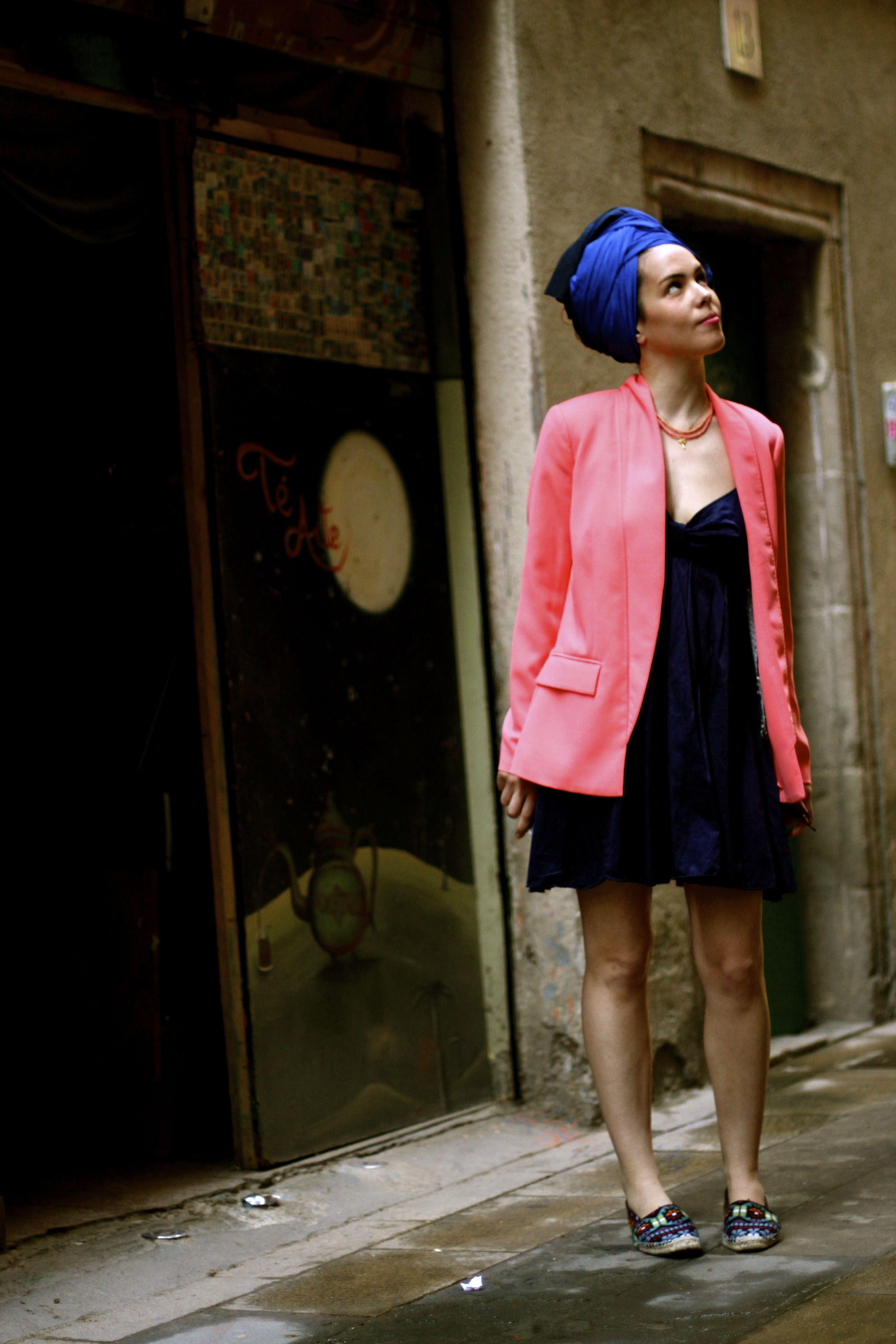 #costume de rigueur #peach blazer #espadrilles #ethnic ...
