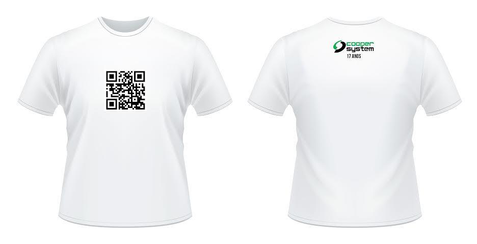Arte para a camiseta da festa de 17 anos da Coopersystem