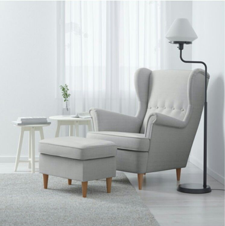 Strandmon Light Grey | sofa in 2019 | Wing chair, Ikea armchair ...