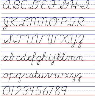 d\'nealian handwriting example | Teaching - Montessori | Pinterest ...