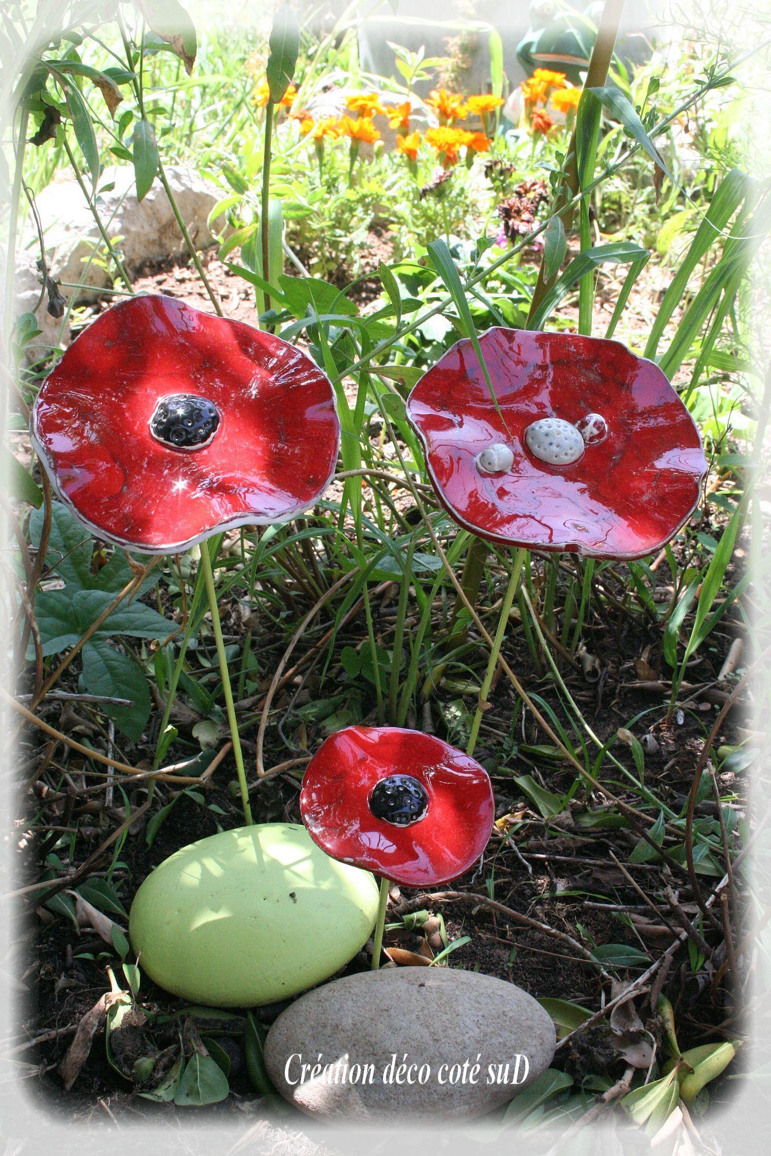 fleur en ceramique