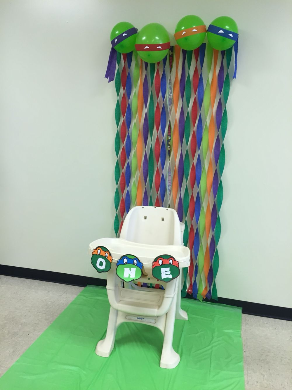 Tmnt First Birthday Decorations Tmnt Birthday Ninja Turtle Birthday Turtle Birthday Parties