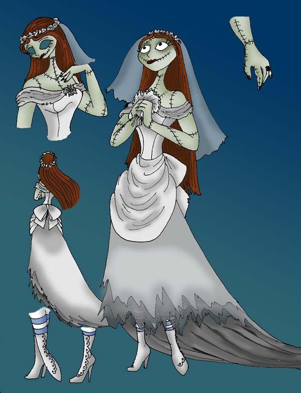Sally Wedding Dress - Color by RubyOfTrinity.deviantart ...