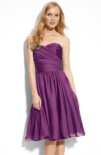 Ml Monique Lhuillier Bridesmaids Strapless Dress Nordstrom Exclusive