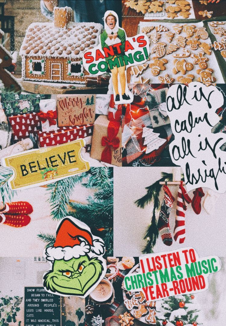Pin by Chloe Christner on Collages Christmas wallpaper