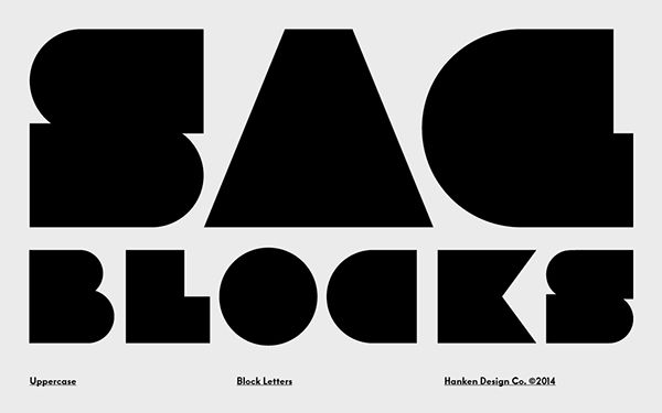 Free Font Of The Day Sag Block Font  Free Download  One Day