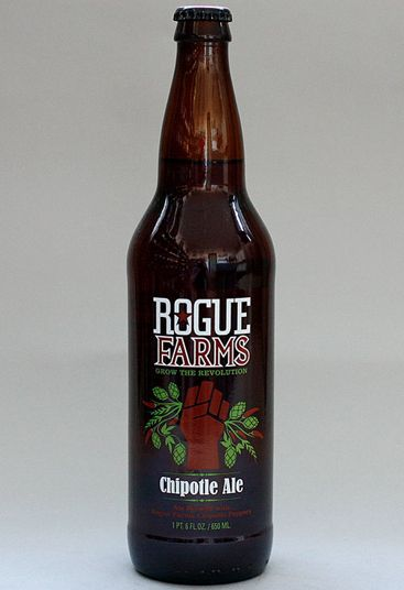 Rogue Farms: Chipotle Ale (5%) A very smoky-tasting dry beer from the USA, with hints of apricot and spiced fruits - and one which counts smoked jalapenos among its ingredients (grown on the brewery's farm in Oregon, USA). The perfect beer for chilli fans and those who love hot, spicy food.