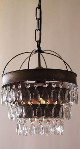Rustic glam chandelier master redesign pinterest rustic glam chandelier aloadofball Image collections