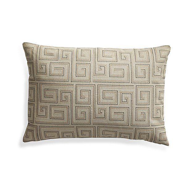"Silas Khaki 24""x16"" Pillow with Down-Alternative Insert"