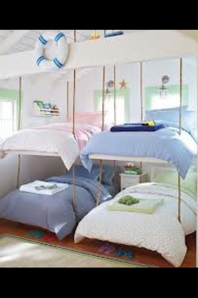 Kids Bunk Beds I Wonder How I Can Make These Floating Kinda Bunk