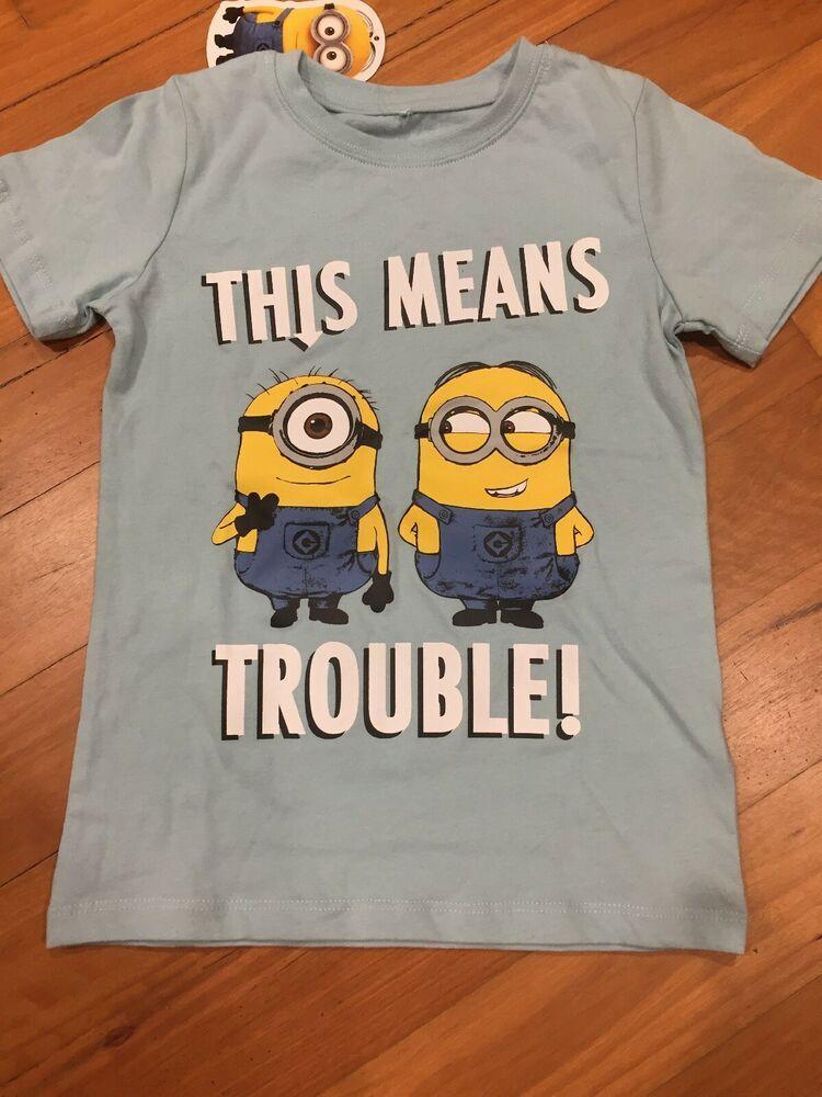 Details about minion t shirt top boys size 4 despicable me