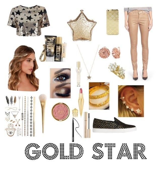 """Gold Star Look"" by hifza on Polyvore featuring Glamorous, L.K.Bennett, NYDJ, Lulu*s, Sonix, Annoushka, Alexa Starr, Victoria's Secret, Christian Louboutin and Milani"