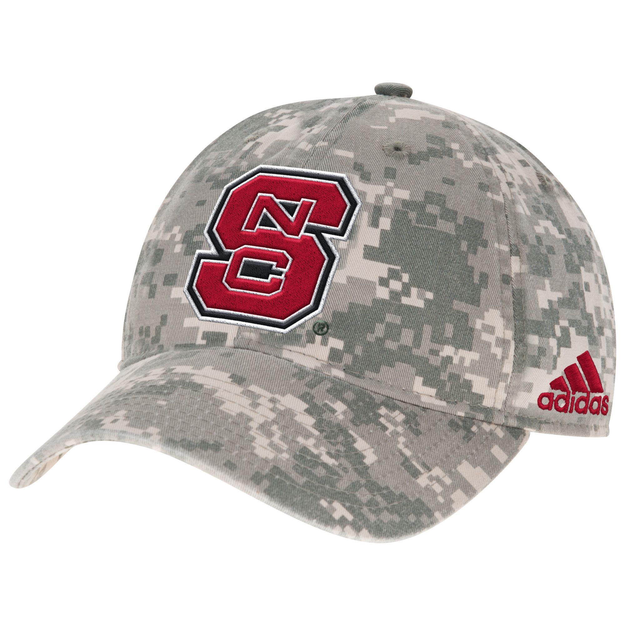 best service 51e9b 777d6 NC State Wolfpack Adidas Digital Camo Adjustable Slouch Hat