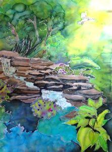 Beautiful silk painting by Carol Lorance. Very lovely!