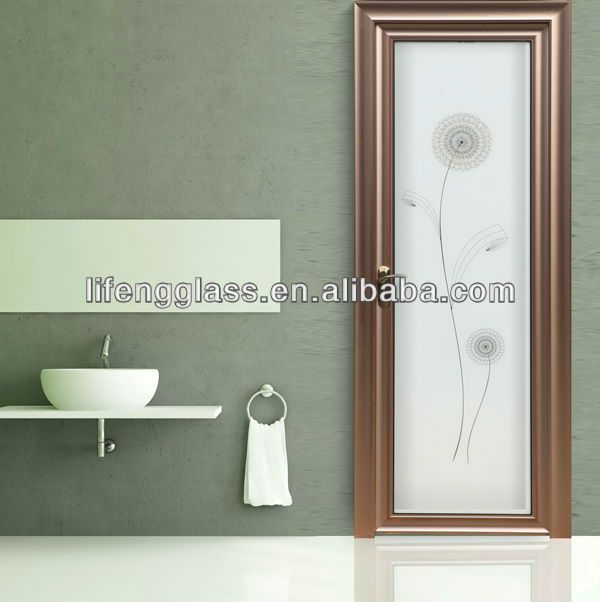 1 Normal Thickness Of Frosted Glass Door Is From 4 12mm 2 The Patterns Of The Glass Can Be Customized Frosted Glass Door Framed Bathroom Mirror Frosted Glass