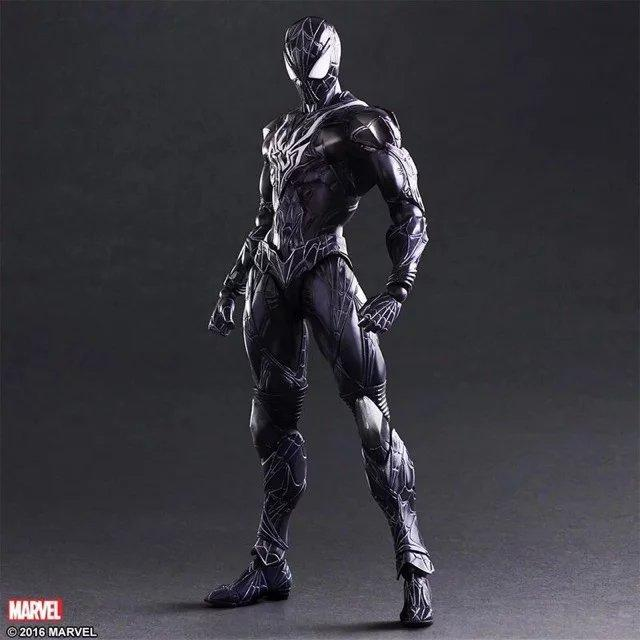 "Black Suit Spider-Man Play Arts Kai 10"" Action Figure Spider-Man"