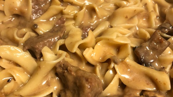 Cubed Sirloin Tips Baked In Cream Of Mushroom Soup Red Wine Milk Mixed With Beef And Beef Onion Soup Mix Serve In 2020 Beef Tips Sirloin Tips Beef Tips And Noodles