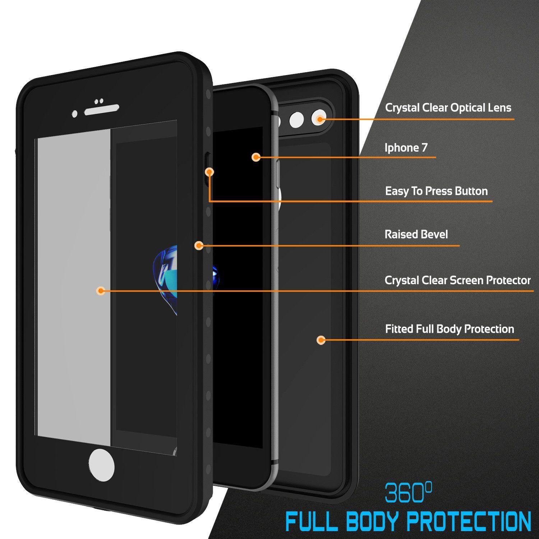 Iphone 8 Plus Waterproof Ip68 Case Punkcase Black Studstar Series Slim Fit Dirtproof Water Proof Case Iphone Iphone 8 Plus