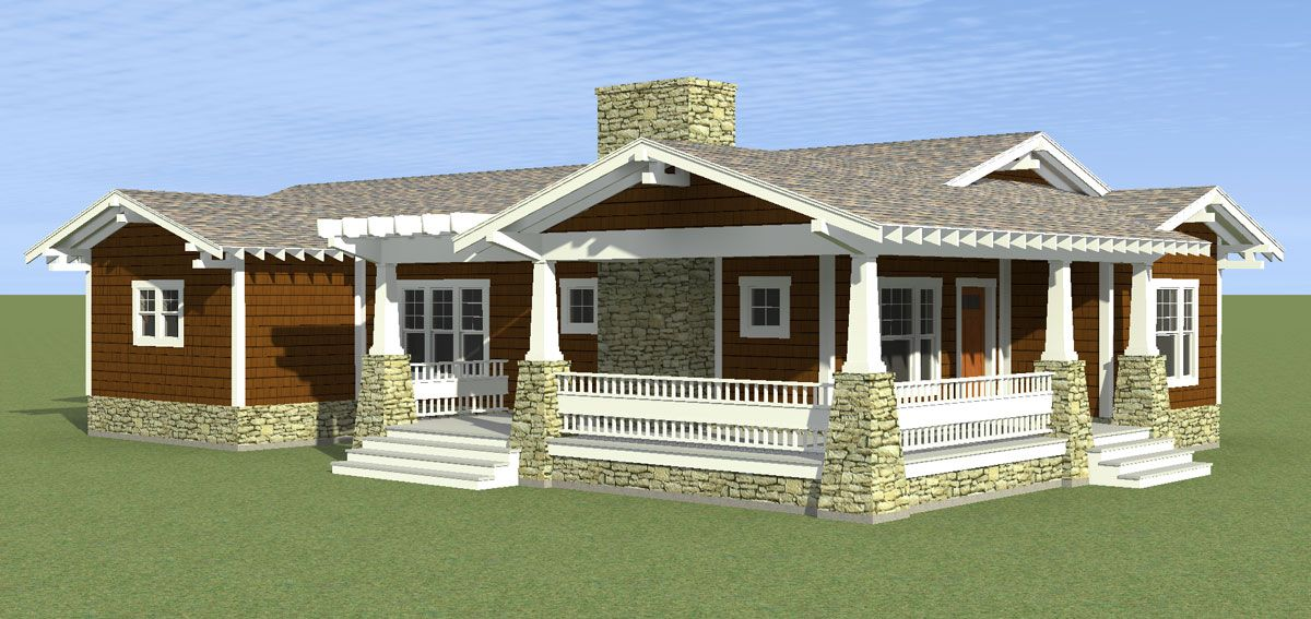 This Brand New One Story Cottage Houseplan Was Designed For A Narrow Lot Do You Agree That The Open Floor Bungalow House Plans Simple House Plans House Plans
