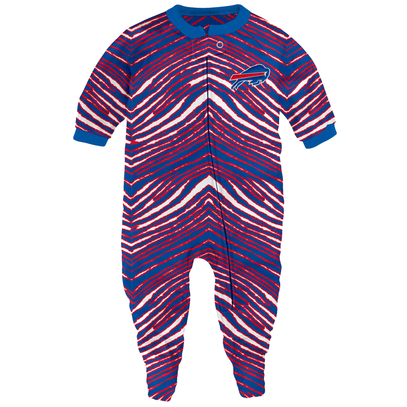 ... promo code 6a2cd 449f8 Buffalo Bills Zubaz Newborn Coverall Pajamas ... 9092ca5bc