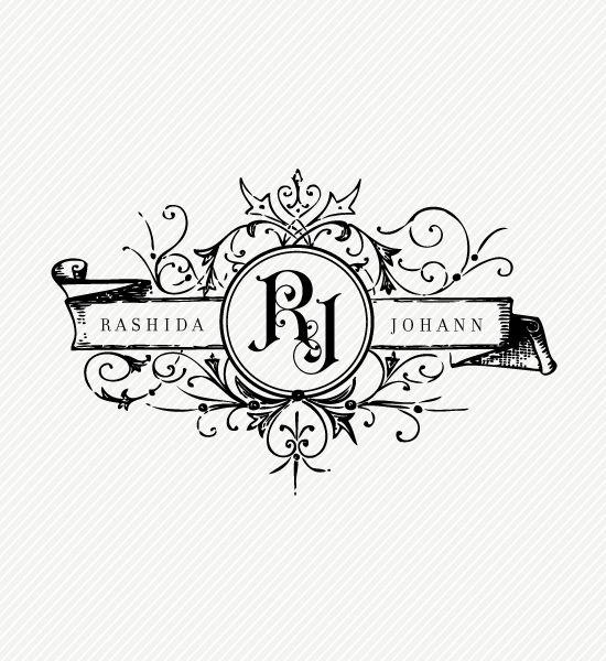 Love Logo 23  Elegant Wedding Logo Design  b r a n d