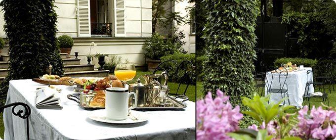 """Petit déjeuner à Paris at """"Hotel Particulier De Montmarte"""""""