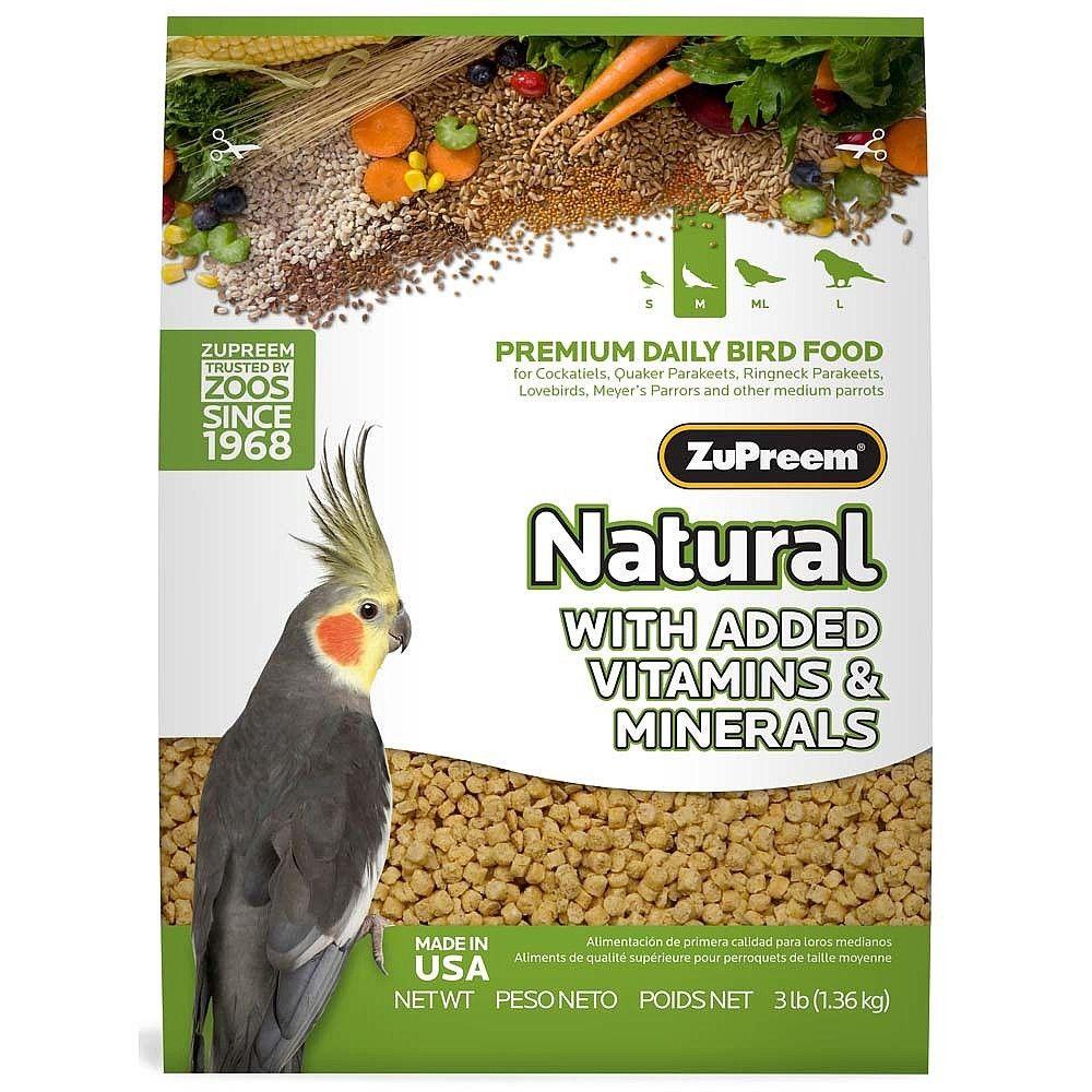 Zupreem Natural Complete Food For Cockatiels Bird Food Cockatiel Natural Diet