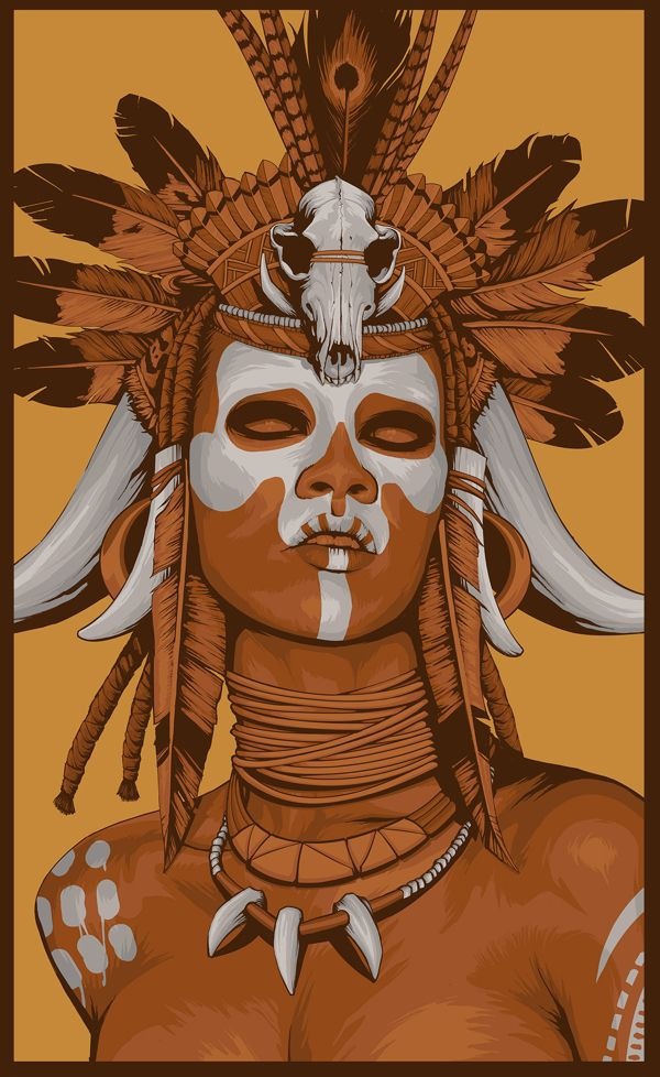Witch Doctor by NON VALE art, via Behance | Halloween 2015 ...