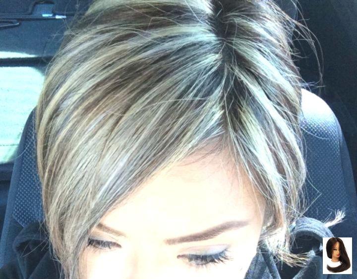 Dark Gray Grey Ha Hair Highlights Frisuren Frisuren Graue