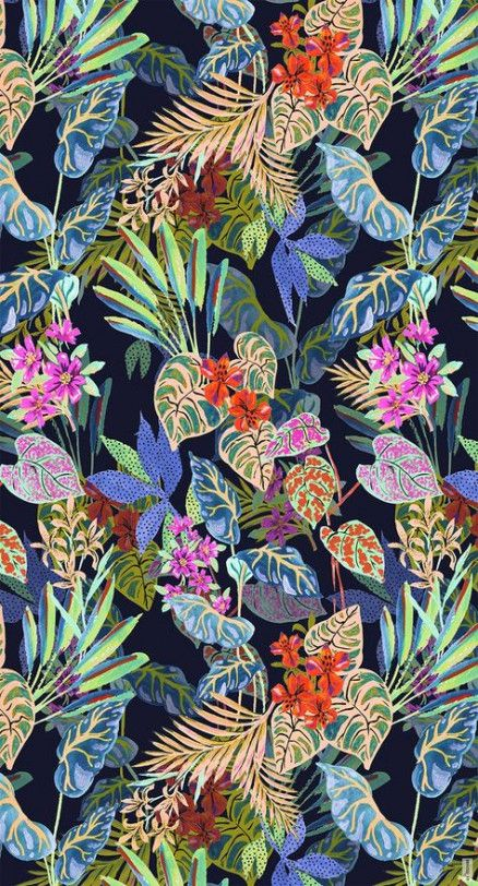 Flowers Illustration Tropical Print Patterns 21+ Super Ideas #tropicalpattern