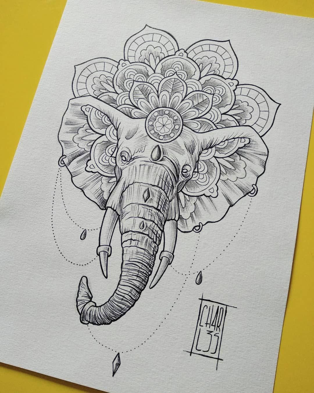 Mandella Tattoo Mandalatattoo Malvorlagen Elefant Kostenlose Malvorlagen