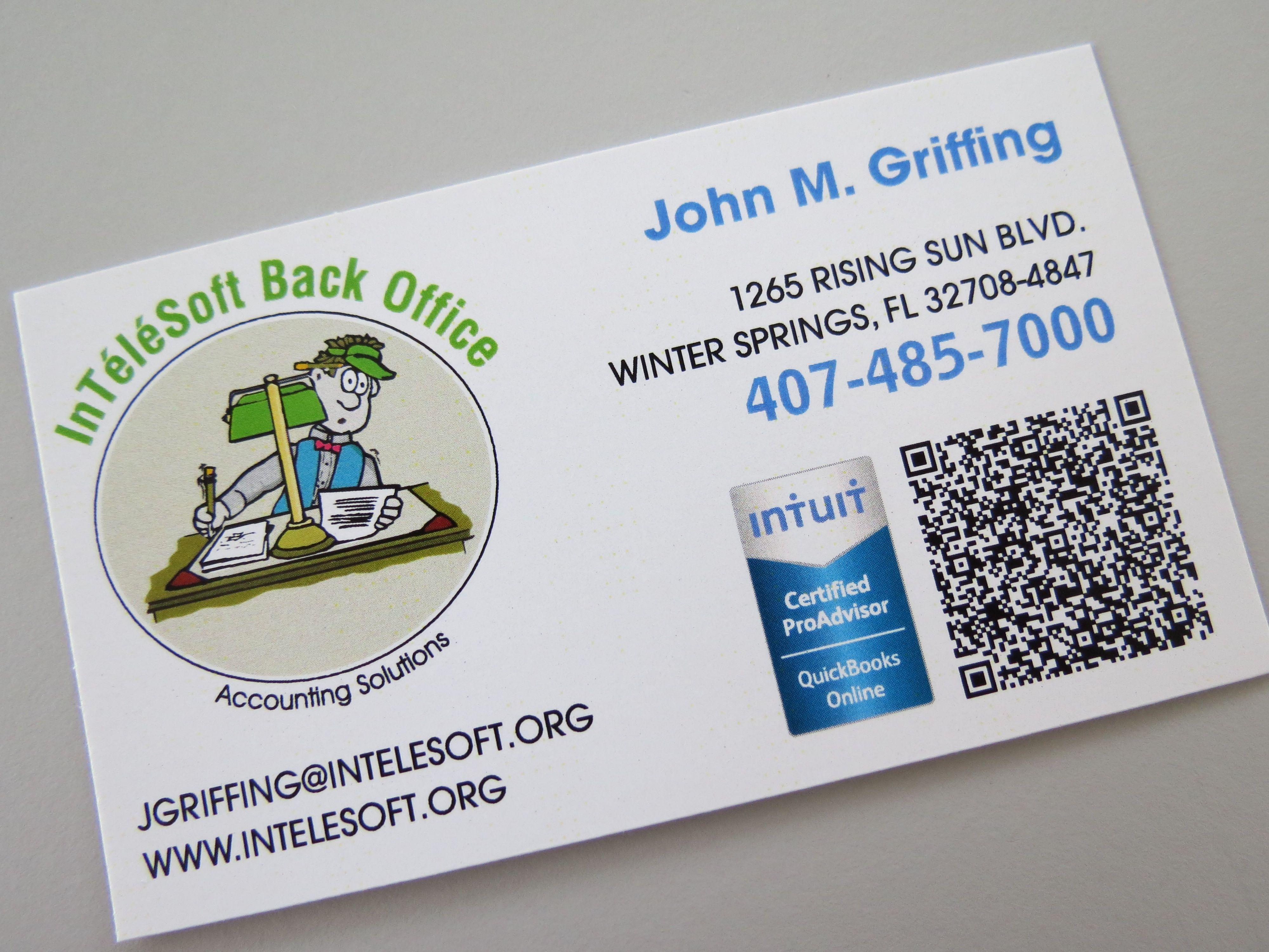 Business cards digital 1sided qr code wwwwinterpark