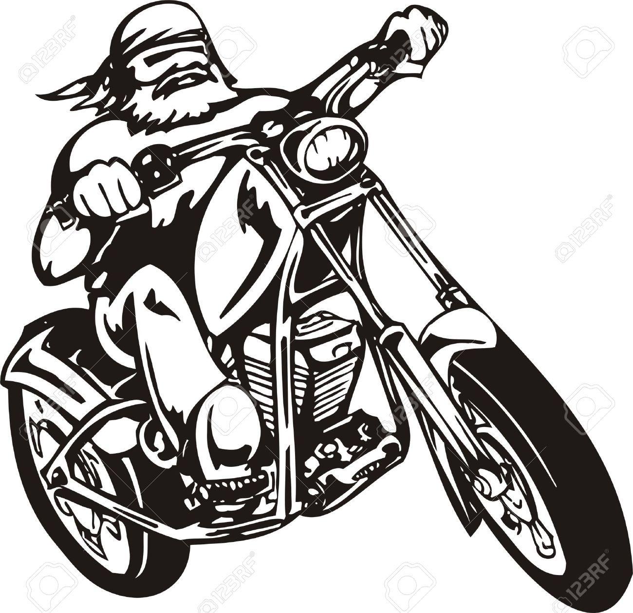 vector biker on motorcycle vector illustration musty rh pinterest com motorcycle vector png motorcycle vector free download