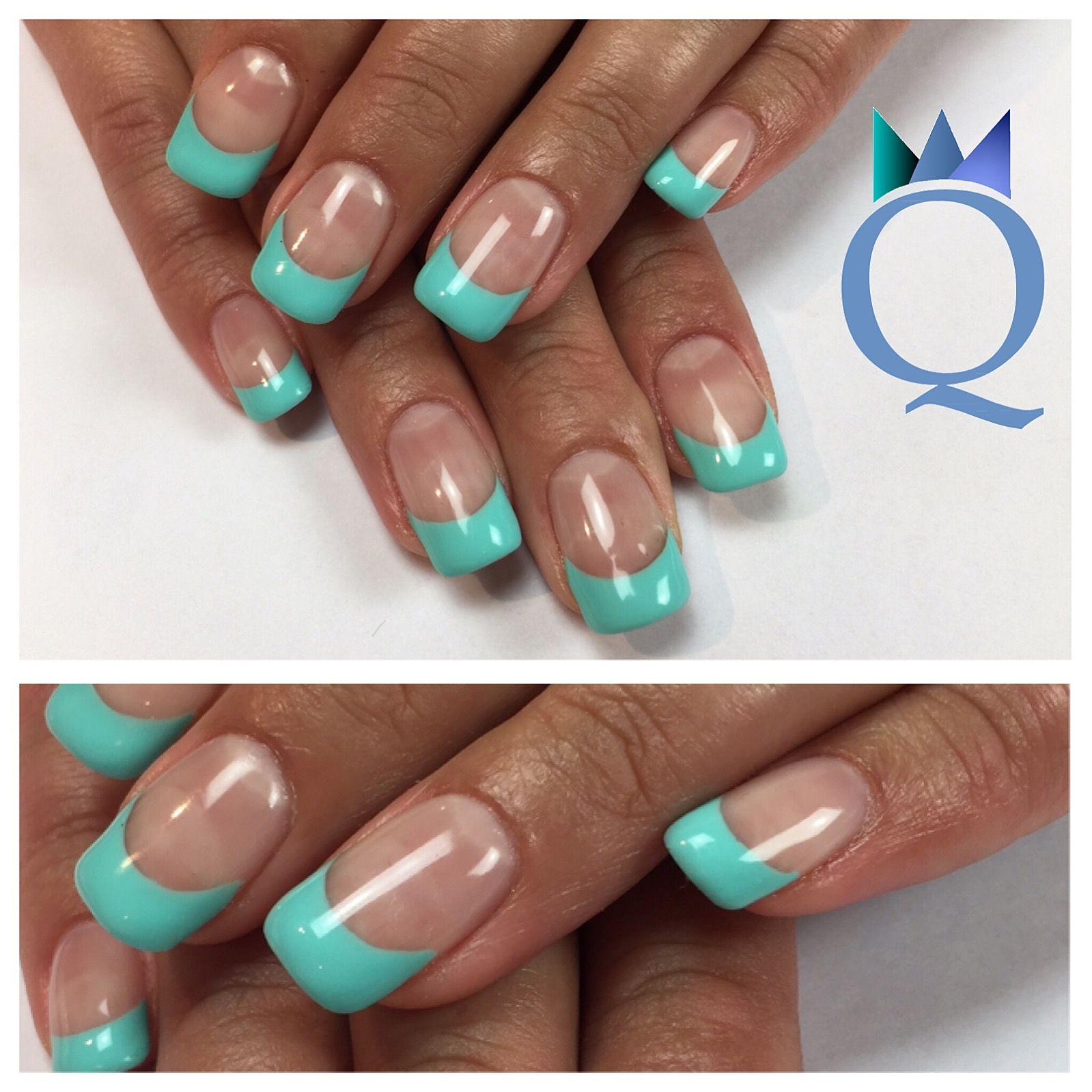 gelnails #nails #turquoise #frenchnails #gelnägel #nägel #türkis ...