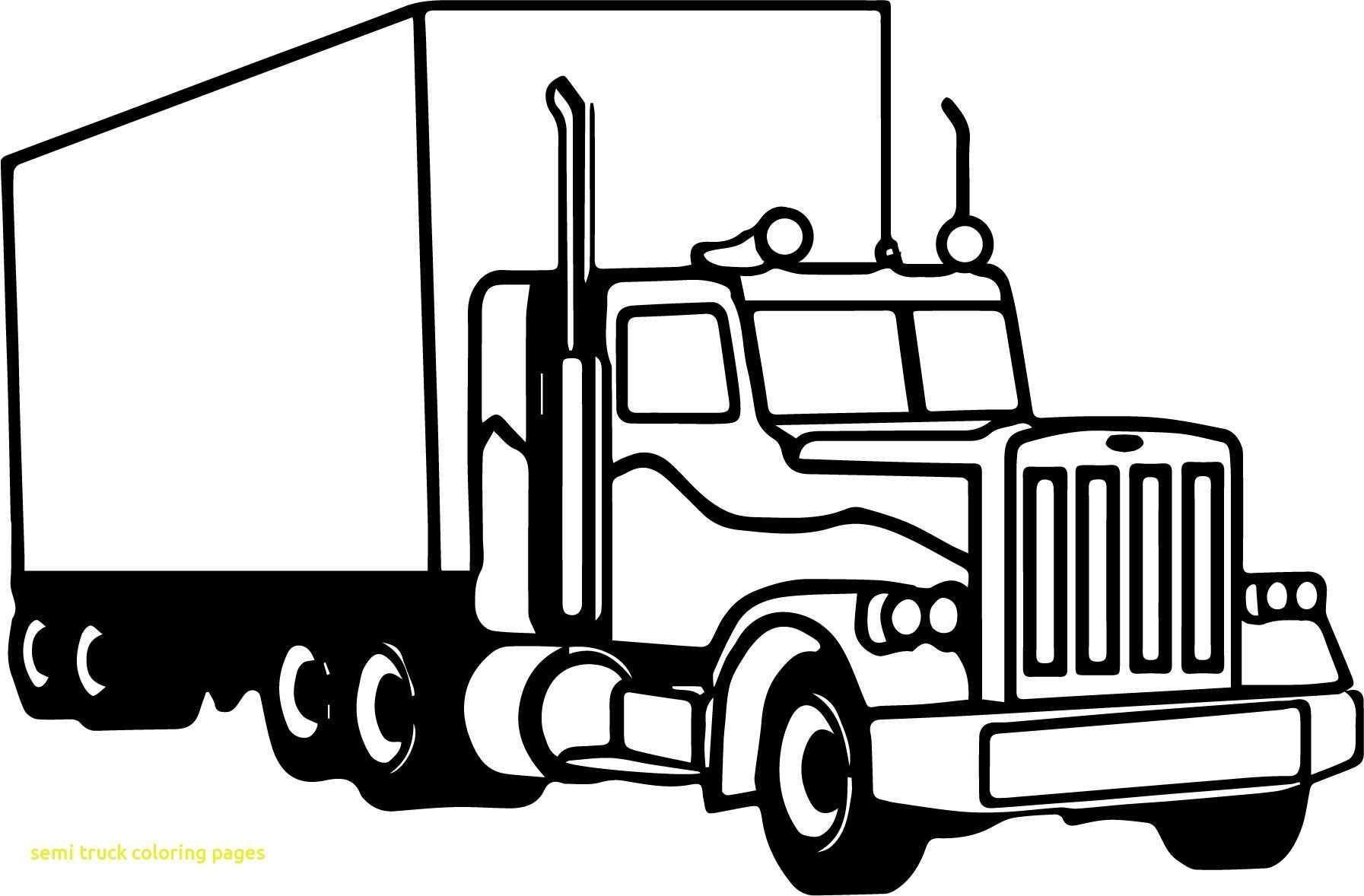 Semi Truck Coloring Pages Semi Truck Coloring Pages Elegant
