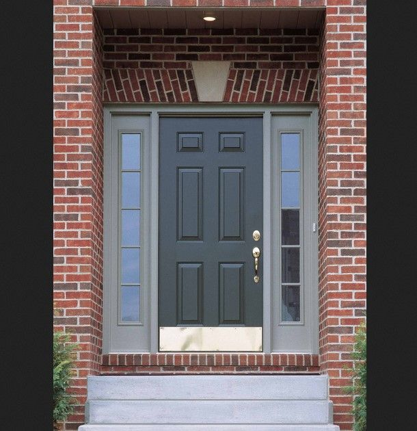 Brick House Front Door Color: Elegant Exterior Paint Colors With Red Brick Ideas : Cozy