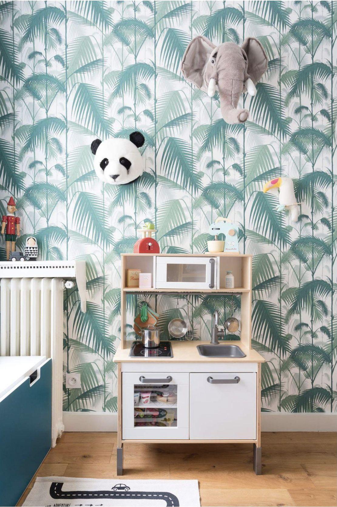 Papier Peint Vert Inspiration Tropicale Palm Jungle Cole And Son