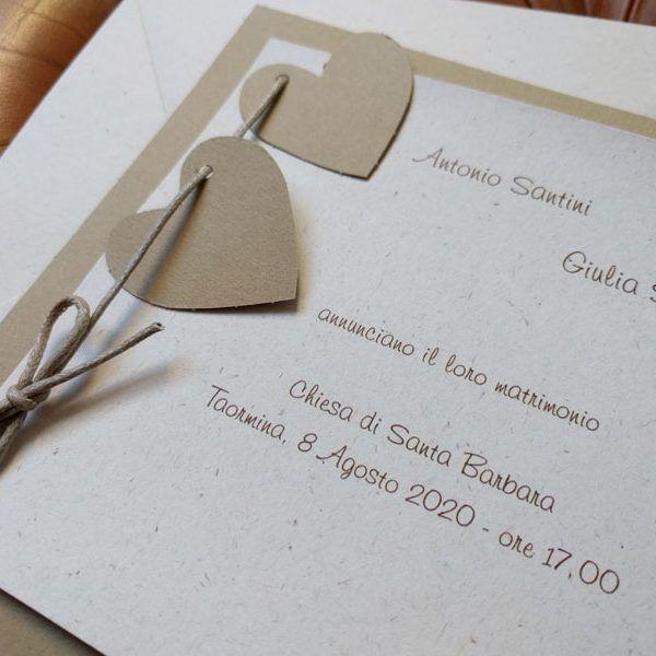 Partecipazione Di Nozze In Carta Kraft Da Sposashop Com Partecipazioni Nozze Nozze Partecipazione