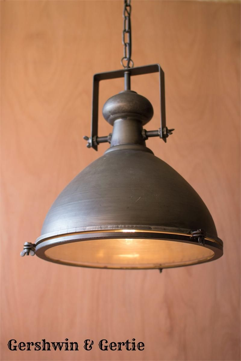 New Large Metal Stable Pendant With Glass Cover Decor Industrial Pendant Lights Modern Decoration
