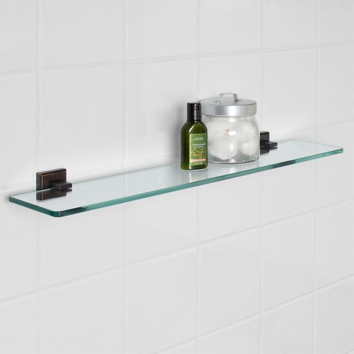 Haskell Tempered Glass Shelf | Tempered glass shelves, Glass shelves ...