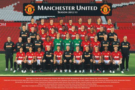 Manchester United Team Photo 2012 2013 Print Allposters Com Manchester United Team Manchester United Team Photos