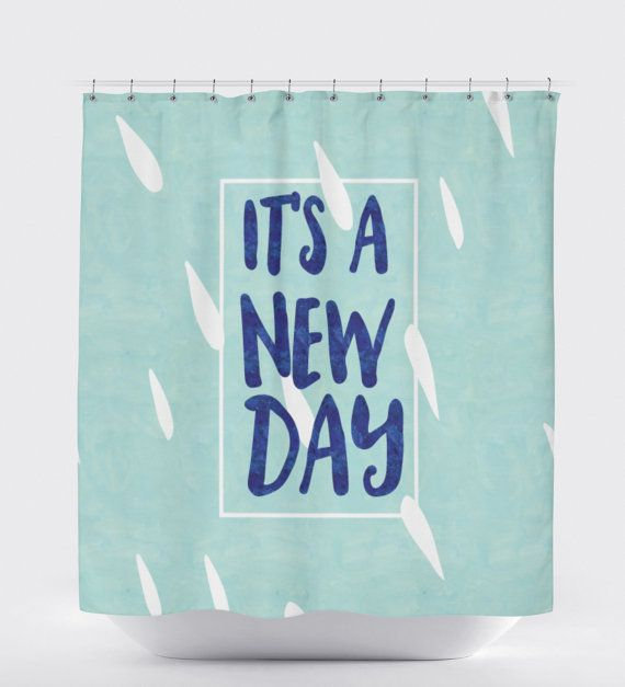 Quote Shower Curtain Positive Thinking Motivation Shower Curtain Art Positive Quotes Bathroom