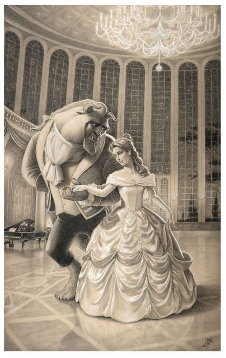 Title: A Dance with BeautyArtist: Edson CamposIncludes Certificate of Authenticity Ships in 1-3 weeksMade in the USA Giclée on Paper Edition of 50Size: 24 x 15 Premiere Edition on Paper of 30Size: 39 x 24