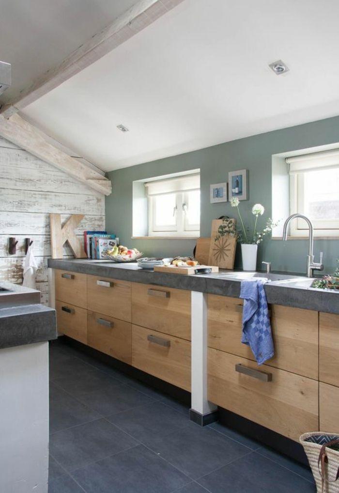 repeindre sa cuisine, quelle couleur pour les murs d\'une cuisine ...