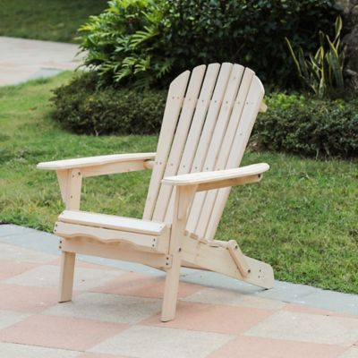 Winsome House Hemlock Adirondack Chair In Natural Wood