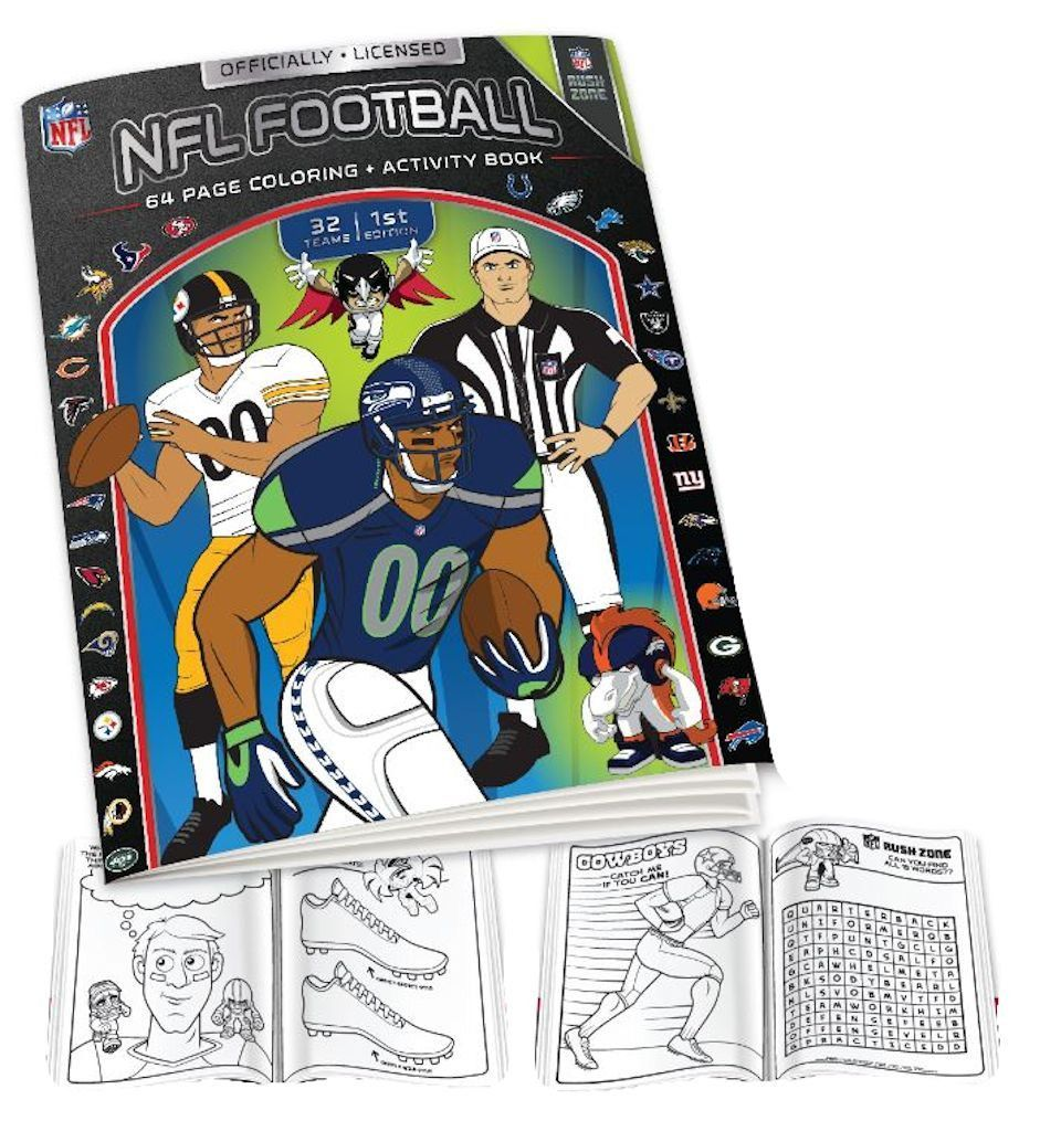 NFL Coloring Book   Products   Pinterest   NFL, Coloring books and ...