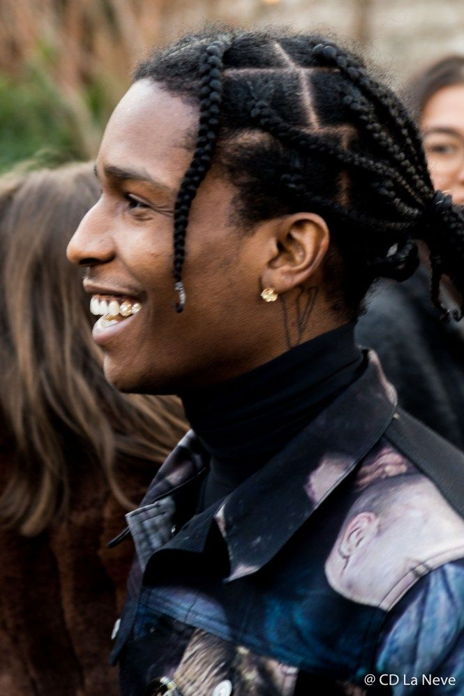 Asap Rocky Pfwm Christian Dior Homme Aw17 Street Stlye Long Hair Styles Men Mens Hairstyles Thick Hair Thick Hair Styles