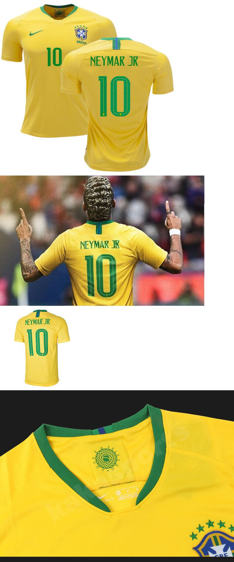 purchase cheap 7d14a 4b84d Clothing Shoes and Accessories 159178: Neymar Soccer Jersey ...