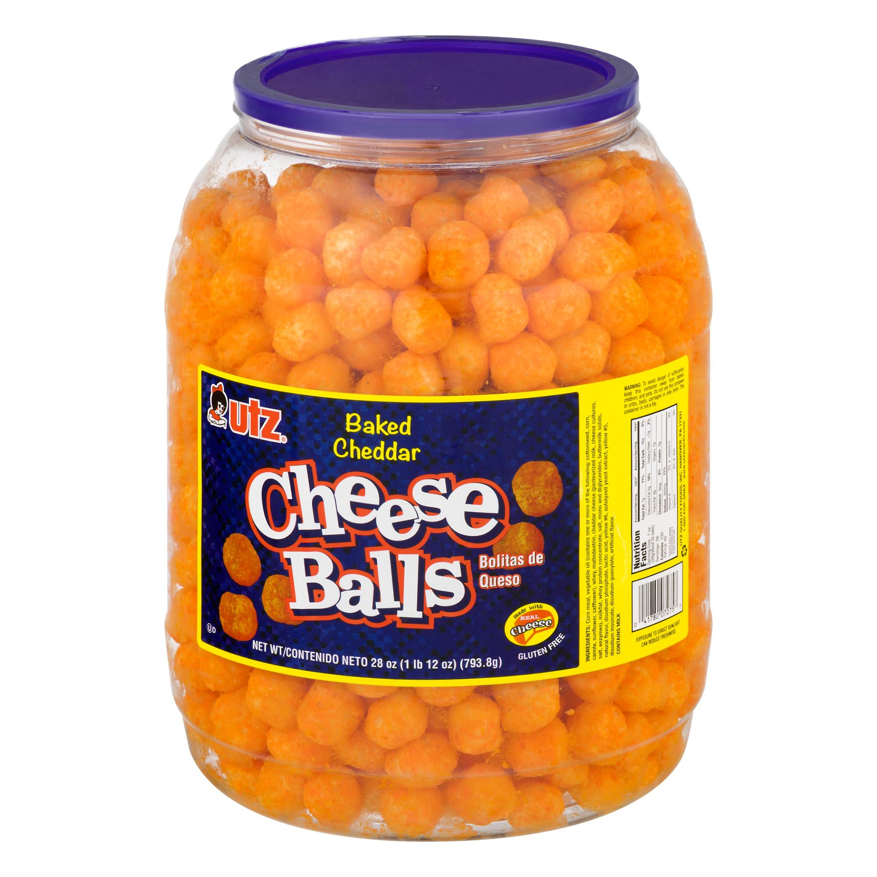 Utz baked cheddar cheese balls 28 oz in